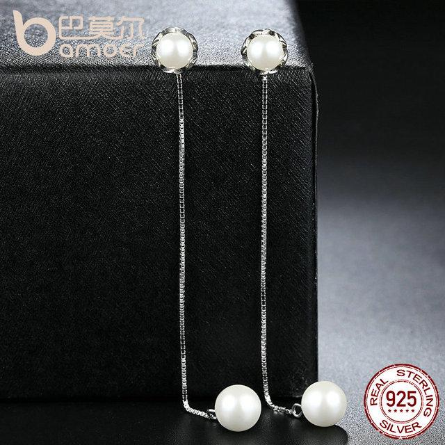 Sterling Silver Earring With Pearls Earrings