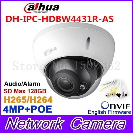 Dahua 4Mp IPC-HDBW4431R-AS IP camera network camera DH-IPC-HDBW4421R-AS Support POE / Micro SD storage/Audio 1/1 channel In/Out original dahua 4mp ipc hdbw4421r as ip network camera support poe
