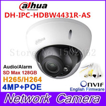 Dahua 4Mp IPC-HDBW4431R-AS ip-камера сетевая камера DH-IPC-HDBW4421R-AS Поддержка POE/Micro SD хранения/Аудио 1/1 канал Вход/Выход