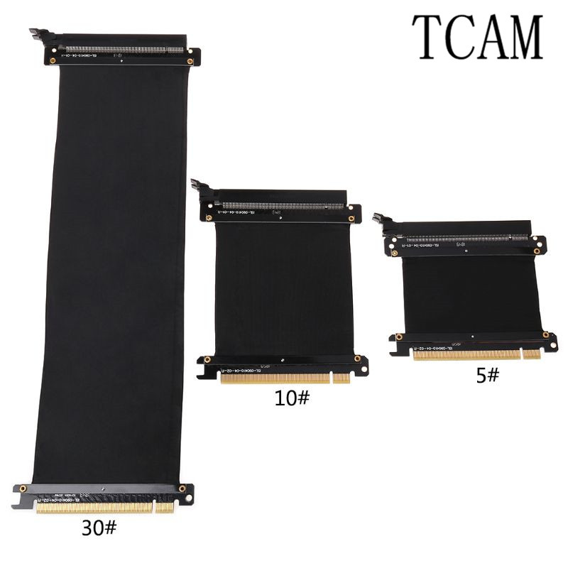PCI Express 16x Riser Cartão Flexível Cabo de Extensão Adaptador de Porta Video Graphics Cartão Estender Cabo para 1U 2U Chassis