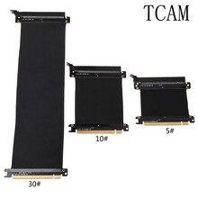 Pci express 16x cabo flexível riser placa de extensão porta adaptador placa vídeo gráfica estender cabo para 1u 2u chassi