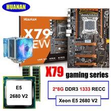 Новое поступление! huanan deluxe X79 LGA2011 набор материнская плата Xeon E5 2680 V2 Оперативная память 16 г (2*8 г) DDR3 1333 мГц recc с Процессор круче всех Тесты