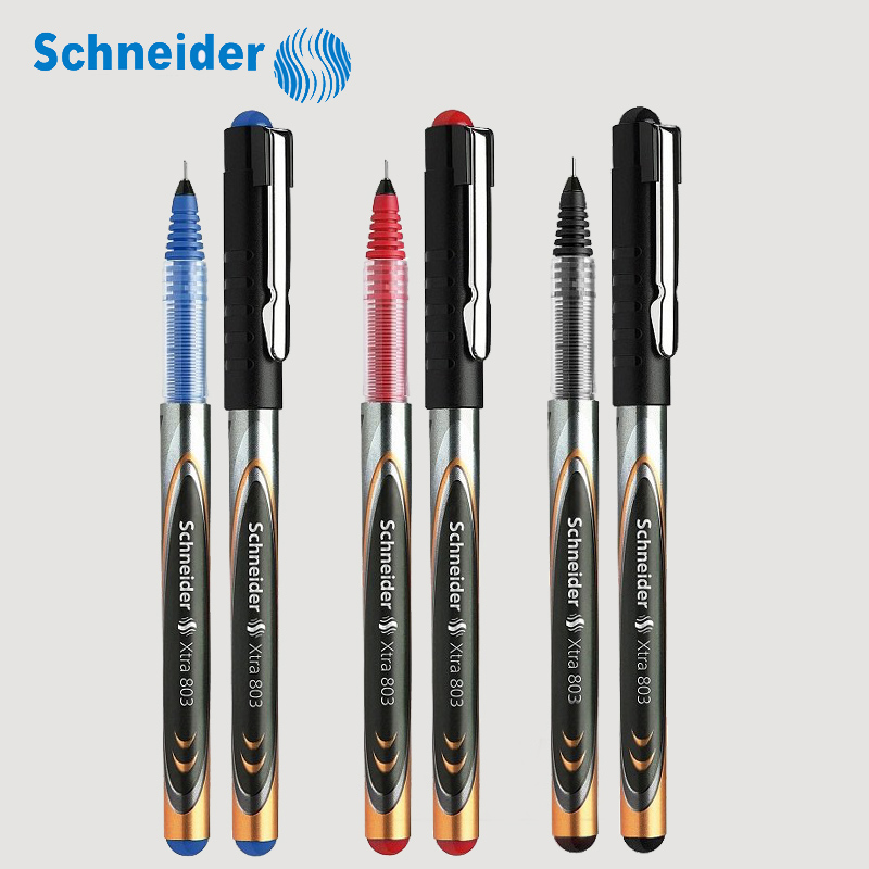 3Pcs Schneider Xtra 803 Gel Pen Roller Ball Pen Signing Student Exam 0.3mm Needle tip Black/Blue/Red Office and School supplies 3pcs schneider topball 845 gel ink pen roller ball pen sign pen student exam 0 3mm black blue red office and school supplies