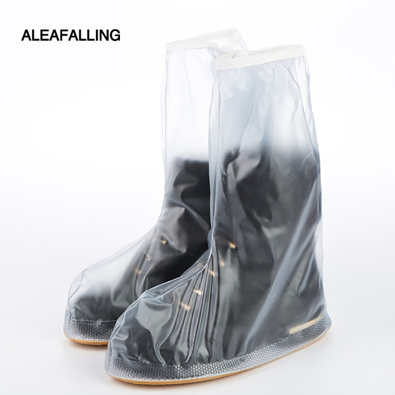 Aleafalling Waterproof Rain Reusable Shoes Cover Thickening Bottom Non-slip Rain Boots Overshoes Unisex Shoe Protection Cover