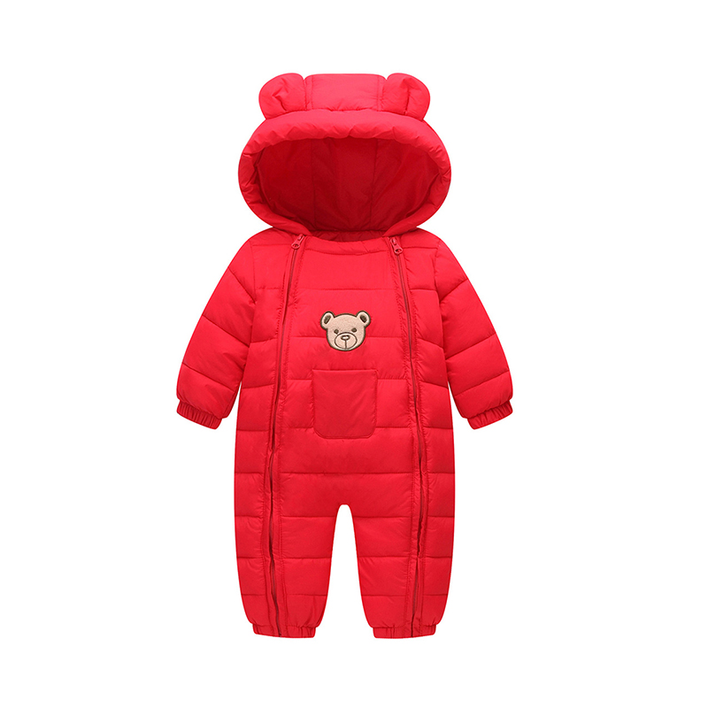 BibiCola winter newborn snowsuit down infant bodysuits hoodies baby boy & girls overalls clothes kids cotton warm jumpsuit