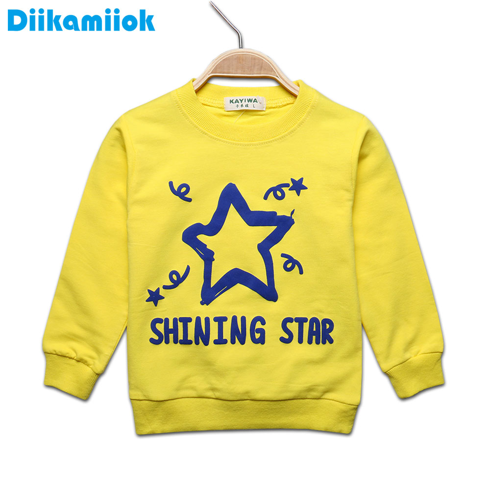 2017 Spring Baby long sleeve t-shirt for boys letter star pattern girls shirts kids children clothing tops tees autumn 7-24M