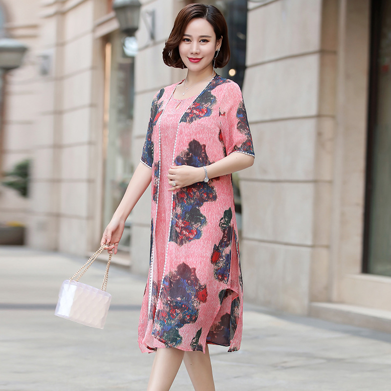 It 39 s Yiiya Mother of the Bride Dresses Plus Size 2 Piece Set Fashion Designer Vintage Flower Pattern Mother Dress M062 in Mother of the Bride Dresses from Weddings amp Events