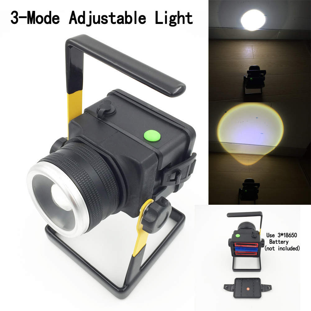 L2 2400LM Rechargeable LED Floodlight Portable SpotLights Travel Camping Lantern Outdoor adventure light Waterproof IP65 portable led floodlight 10w rechargeable ip65 waterproof outdoor lantern hand led light for camping fishing work emergency lamps