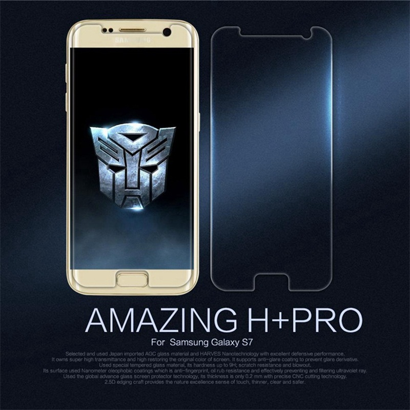 NILLKIN Amazing H+PRO 0.2mm 9H 2.5D Screen Protector For Samsung Galaxy S7/G930/G930F/G930FD Dual Sim Tempered Glass
