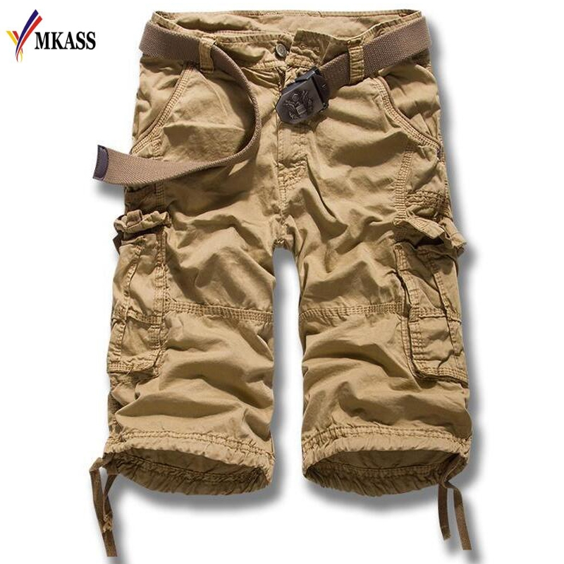 5 Colors Cargo Shorts Men 2018 New Mens Casual Shorts Male Loose Work Shorts Man Military Short Pants Plus Size 29-38