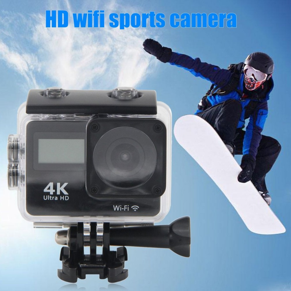 Ultra HD 4K WiFi Camera Camcorder Dual Screen Touch LCD Underwater 30m Waterproof Sport Action Camera with Remote Control action camera h3r h3 ultra hd 4k 170d lens go dual screen camera pro waterproof 30m remote control sport camera
