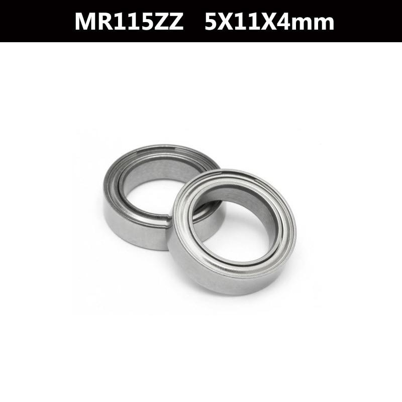 10Pcs MR115-2Z MR115ZZ MR115 zz 638/5ZZ L-1150ZZY04 Deep Groove Ball Bearings 5 x 11 x 4mm High Quality