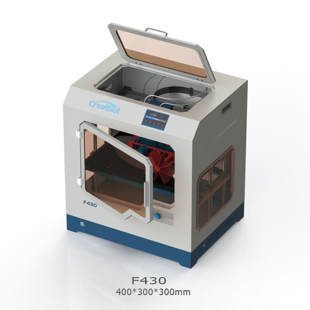 3D принтер CreatBot PEEK F430 400*300*300 мм, двойной экструдер 1,75 мм, PLA ABS, большой размер печати, все закрытые камеры, бесплатная доставка