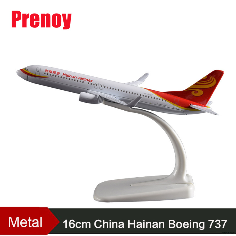 16cm Hainan Boeing 737 Airplane Model China Hainan Airlines Aeronautical Aviation Model Airbus B737 Alloy Aircraft Model Toys