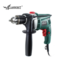 LANNERET 710W Electric Drill Hammer Drill Impact Drill Multi function Adjustable Speed Woodworking Power Tool
