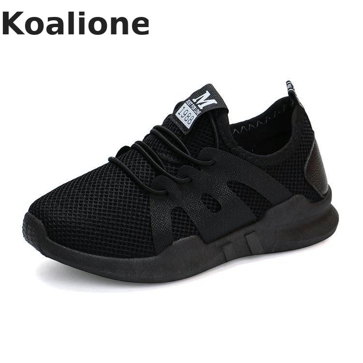 Kids Shoes Girls Sport Shoes Boys Sneakers Summer Air Mesh Fabric Breathable Running Shoes Children Casual Sneakers Black Autumn
