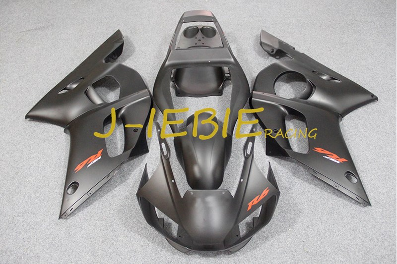 Matt black Injection Fairing Body Work Frame Kit for Yamaha YZF 600 R6 1998 1999 2000 2001 2002