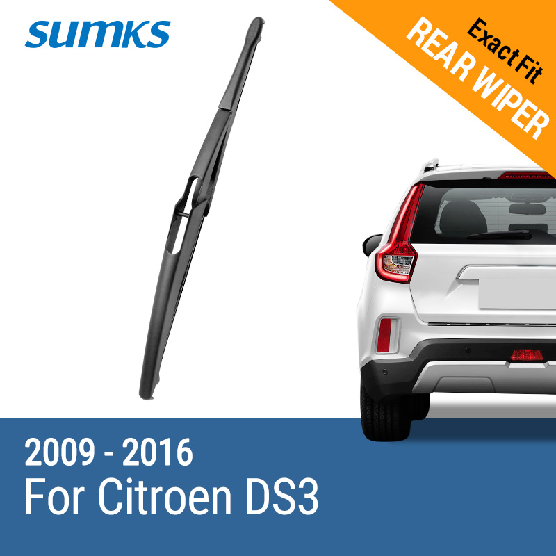 SUMKS Rear Wiper Blade for Citroen DS3 2009 2010 2011 2012 2013 2014 - Auto Replacement Parts