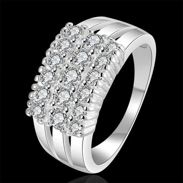2016 новый Оптовой Продажи 925 ювелирных изделий посеребренные кольца для женщин, серебряные ювелирные изделия, мульти-камень Кольцо/fdganuna gpmapgta R143