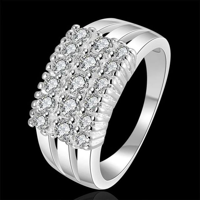 2016 new Wholesale 925 jewelry silver plated ring for women, silver fashion jewe