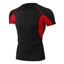 Быстросохнущая футболка для бега облегающая фитнеса футболки