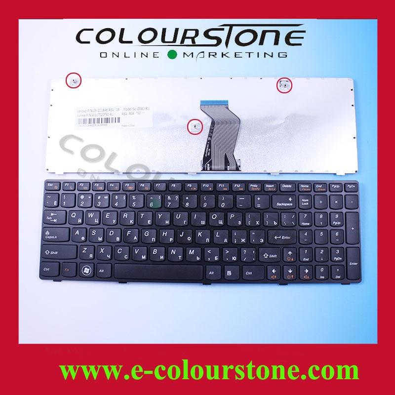 G585 RU laptop keyboard For Lenovo G580 Keyboard With Black Frame Z580 Z585 V580 B580 G590 Ideapad 25-201846 V-117020FS1