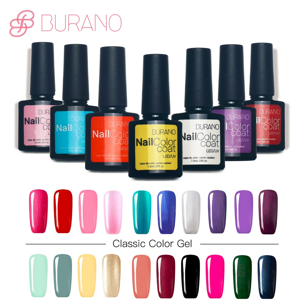 BURANO Nail Gel Polish Color Nail Gel Soak Off Fast Dry Long-Lasting Beauty Color Gel 40 COLORS