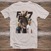 2015 New Model Cool Fast And Furious 7 Movies Clothing Shirt Tee Brian O'Connor Men's T Shirt 100% Cotton Custom Logo Text Size