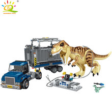 Dinosaur Jurassic World Park Tyrannosaurus Rex Figures Building Blocks Compatible City Truck Brick Toy For Children(China)