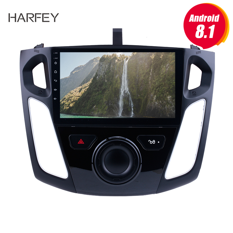 Harfey 9 Android 8.1 GPS Navigation Radio for 2011 2012 2015 Ford Focus with Bluetooth WIFI 1080P USB Mirror Link OBD2 DVR SWC