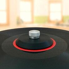 POM Braçadeira Turntable Vinil LP Record Peso Inoxidável Disco Estabilizador Estabilizador Para Discos de Vinil