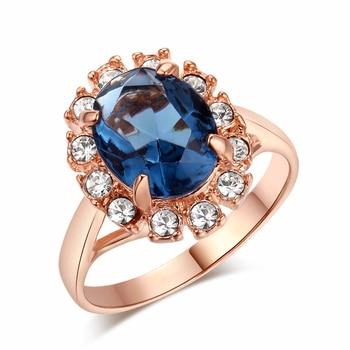 Кольцо с фианитами, под розовое золото