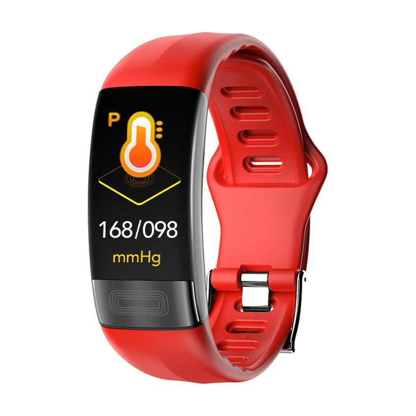 Nouveau P11 Bracelet intelligent Sport montre intelligente hommes femmes Smartband ECG Bluetooth Bracelet moniteur de fréquence cardiaque rappel de Message d'appel