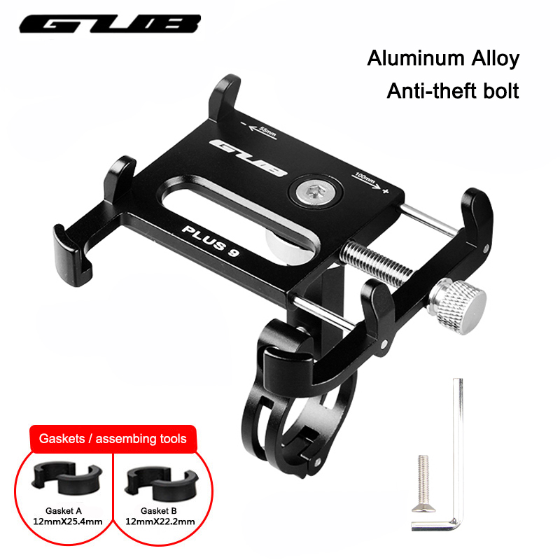 GUB Metal CNC Bike Bicycle Universal Cell Phone Holder Motorcycle Handlebar Mount Handle Phone Support For 3.5-6.2 iPhone GPS
