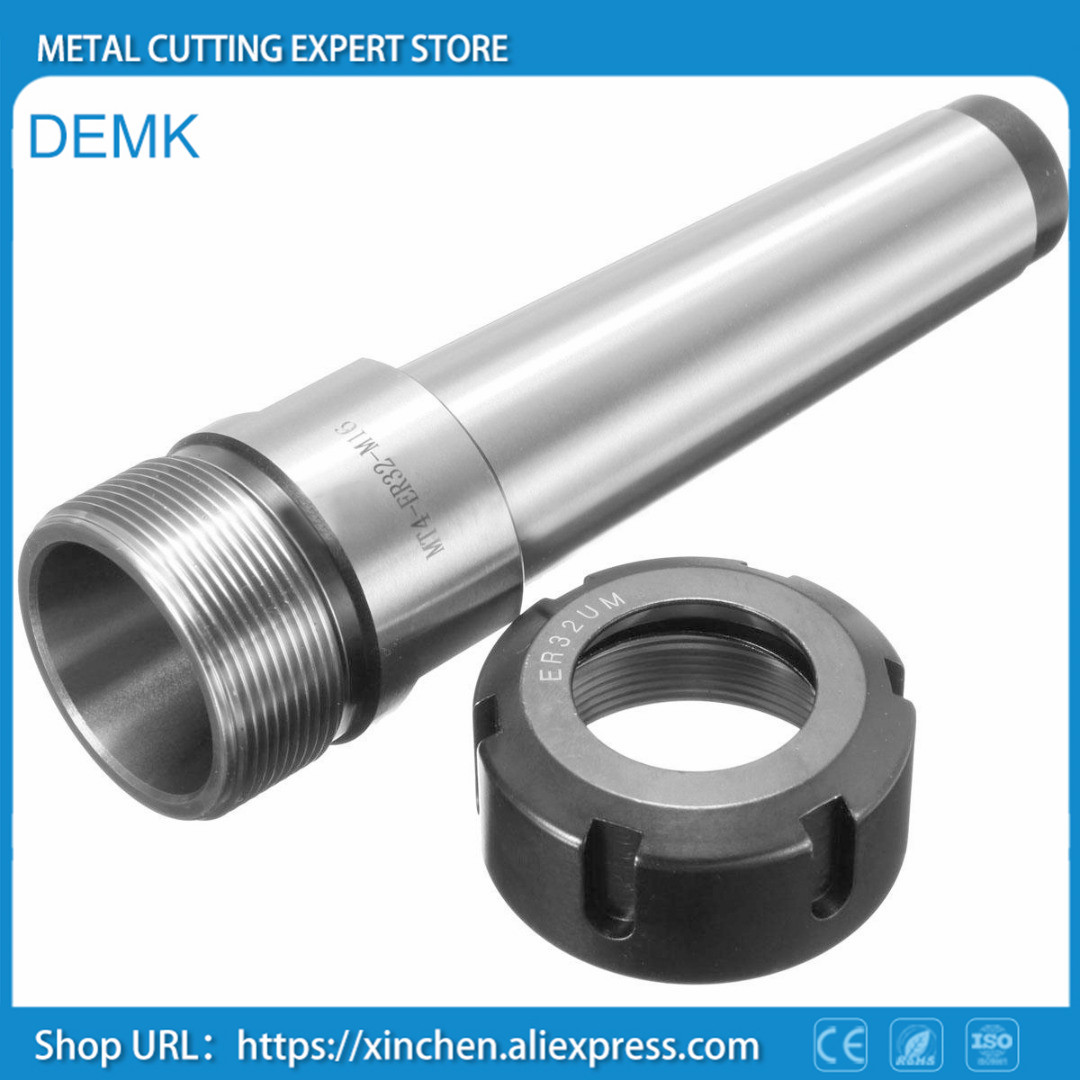 Spindle High-precision MT3 MT4 ER25 ER32 ER40 Spindle chuck with CNC wagon milling machine extension 1PCS rear thread