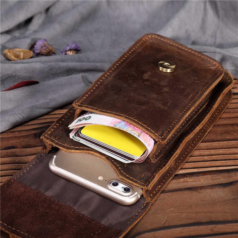 Taille männer Echte Leder Pack Bum Hip Gürtel Taschen Telefon Geld Karte Zigarette Tasche Tasche Geldbörse Vintage Bein Drop tasche 16 stile