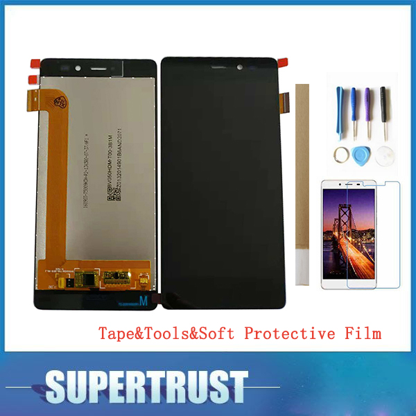 5.0For Wiko Tommy LCD Display+Touch Screen Digitizer Assembly Black With tools&tape&soft protective film5.0For Wiko Tommy LCD Display+Touch Screen Digitizer Assembly Black With tools&tape&soft protective film