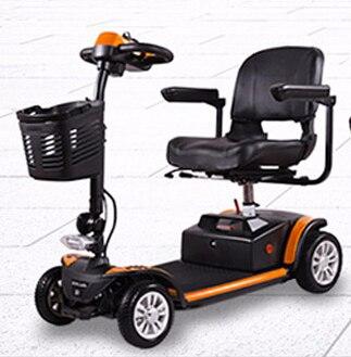 Scooter électrique adulte multifonction personnalisable avec panier 12 V 180 W pliant avec batterie Li-ion rouge jaune noir - 3