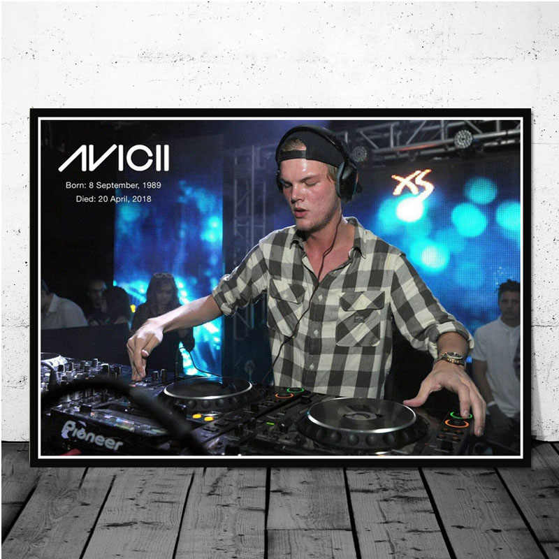 Avicii Muziek DJ Zanger Star Art Poster Canvas Schilderij Muur Foto Voor Home Decor Posters en Prints