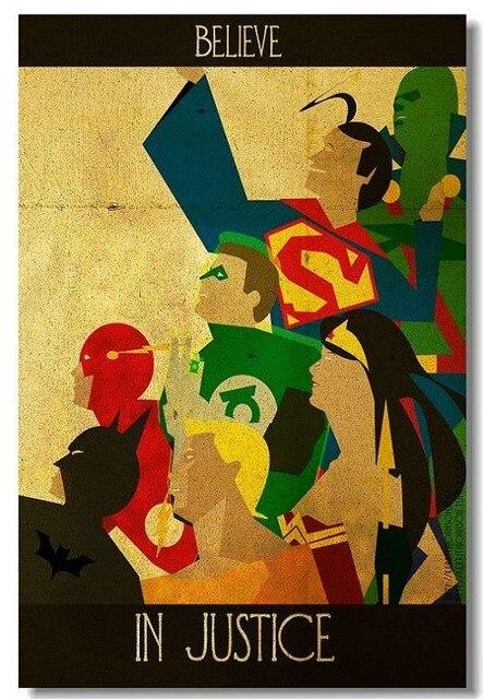 Justice League BatMan Iron Man Silk Canvas Wall Posters HD Modern ...