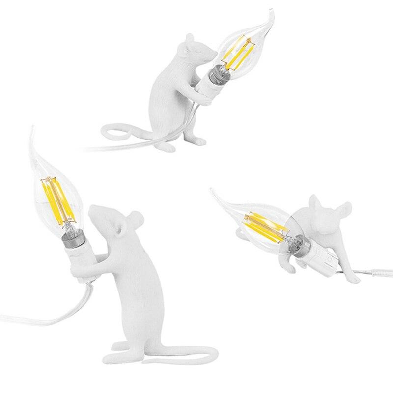 Lampen & Schirme Schreibtischlampen Preiswert Kaufen Moderne Harz Weiß Nette Maus Schreibtisch Lampen Tier Kunst Nacht Lichter Seletti Lampe Für Kidsroom Wohnzimmer SorgfäLtige FäRbeprozesse