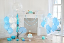Laeacco Baby 2nd Birthday Balloons Flowers Cake Fireplace Photo Background Customized Photographic Backdrop For Studio