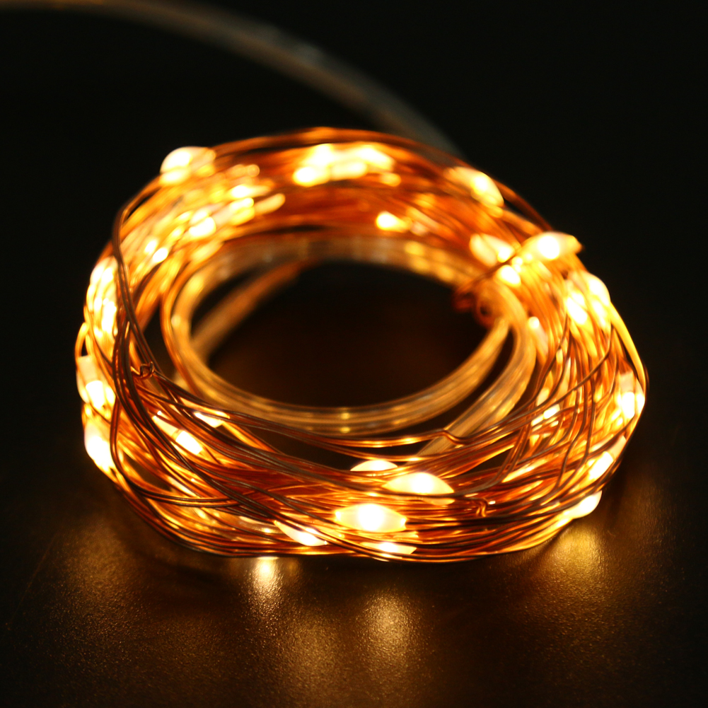 10M 100LED USB String Fairy Lights 8 modes Festival Wedding Party Decoration Lighting 5W Copper Wire String Lights