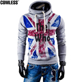 Fashion Brand Clothing Hoodies Men Flag And Letters Printing Pullover Hooded Hoodies And Sweatshirt Men's Slim Fit Sportwear