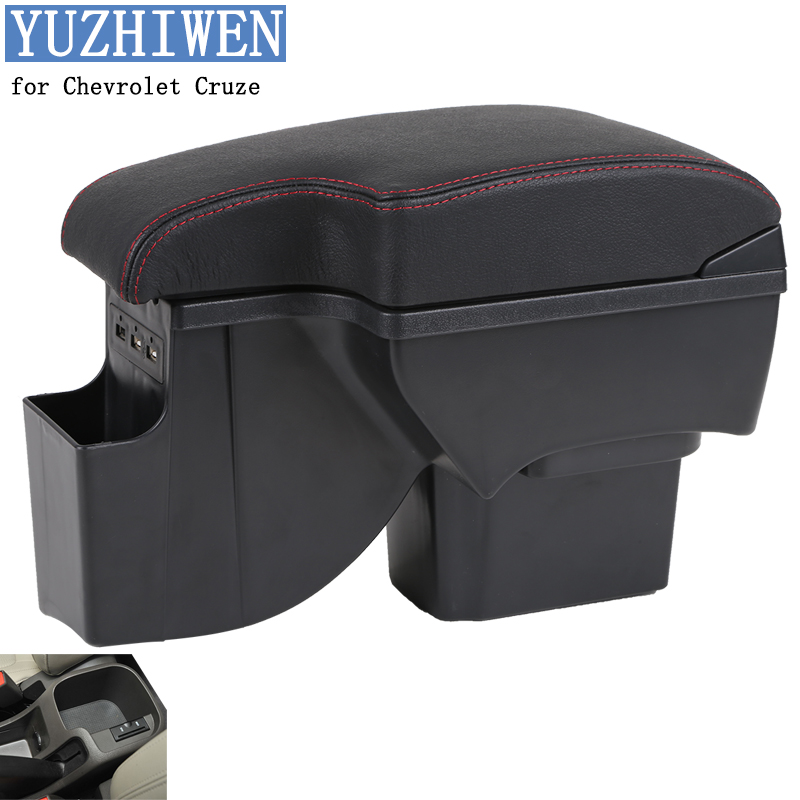 YUZHIWEN for Chevrolet Cruze armrest box Chevrolet Cruze 2009-2014 Universal Central Storage Box modification accessories high quality car central station mat sticker for chevrolet cruze black 1pcs free shipping kl12329