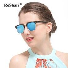 RoShari Clásico hombres gafas de Sol Polarizadas mujeres hombres Diseñador de la Marca Retro Remache gafas de Sol polaroid mujeres gafas de sol mujer 3016