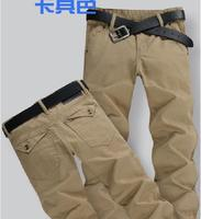 Free shippin Military Casual Pants Mens Slim Business Pants Plus Size 28 48 46 Pants Straight Male Cotton High Quality Summer