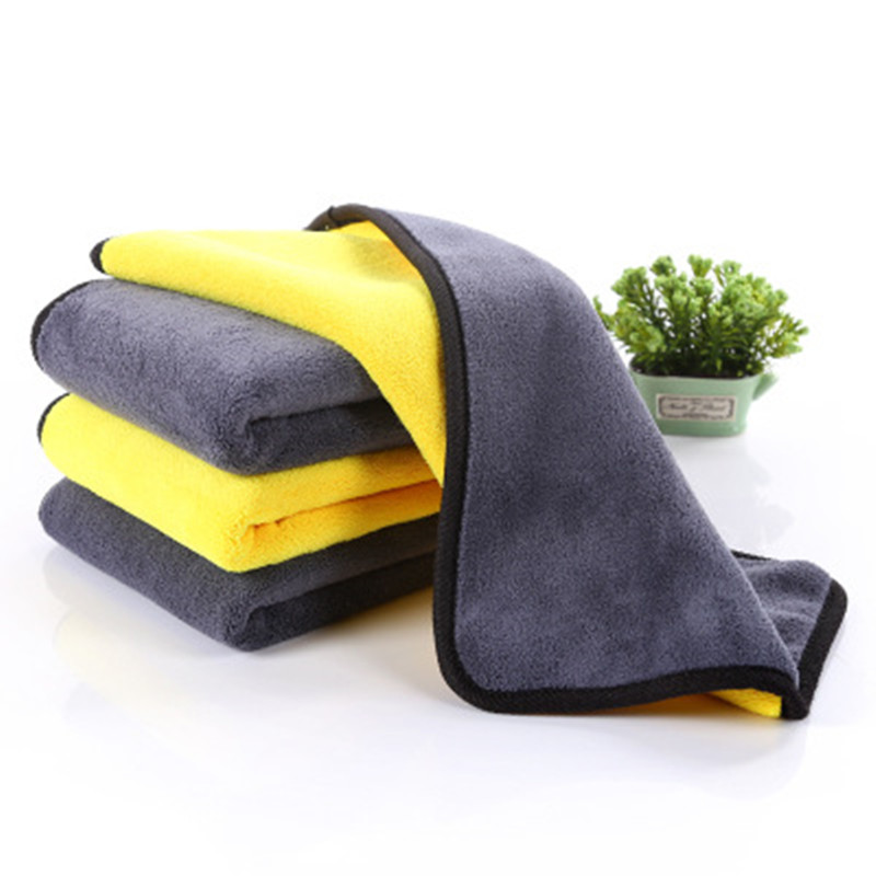 600GSM 30X30/40/60 Double-sided Microfiber Car Wash Towel Coral Fleece Cleaning Towel Hanging Towel Car Wash Plush Microfiber