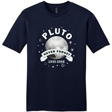 Wholesale T Shirts O-Neck Comfort Soft Short Sleeve Vintage Science Gifts Planet Pluto Never Forget  Shirt For Men