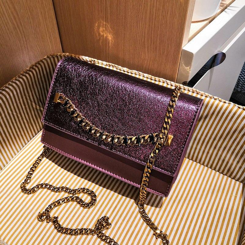 Chaîne en métal bijoux semi-précieux renversés épaule unique bagages